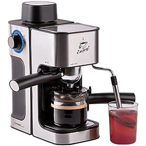 Siebträger Espressomaschine elektrisch, Espresso-Kocher mit Glaskanne,...