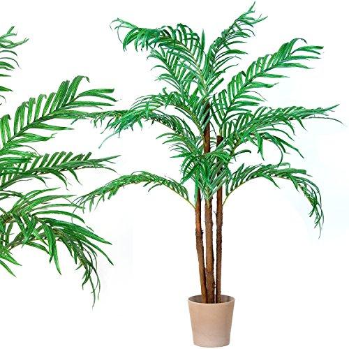 Kokospalme, Echtholzstamm, Kunstpalme, Kunstpflanze, Kunstbaum - 160cm