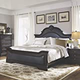 Coaster Home Furnishings 203191KE Traditional Queen Bed, Dark Cherry/Brown