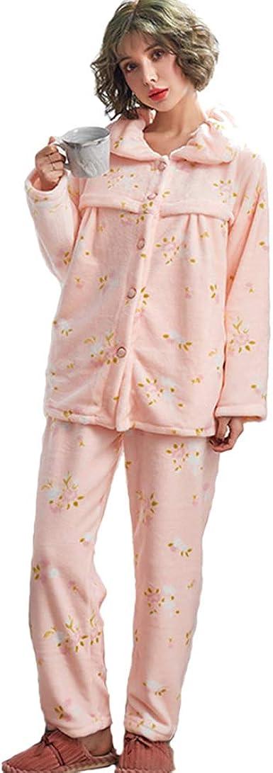 KINDOYO Mujer Conjunto de Pijama de Maternidad y Lactancia ...