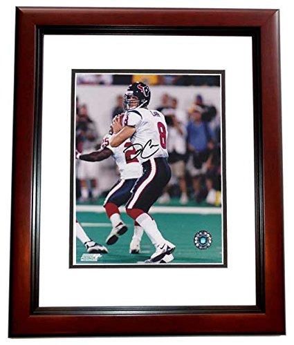 David Carr Signed - Autographed Houston Texans 8x10 inch Photo MAHOGANY CUSTOM FRAME