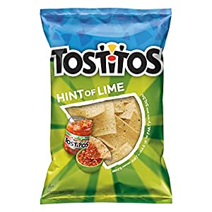 Amazon Com Tostitos Hint Of Lime Flavored Tortilla Chips