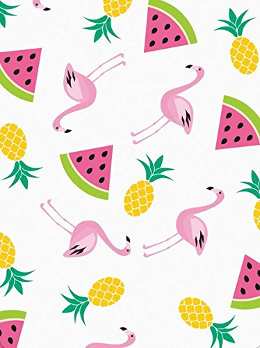Graphique Summer Pattern Pocket Notes - Pocket Notebook with Pineapple Watermelon Flamingo Cascade Pattern and Matching Magnetic Case, 75 Full Color Pages, 3