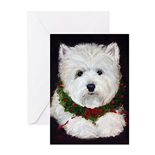 CafePress - Merry Christmas - Greeting Card (20-pack), Note Card with Blank Inside, Birthday Card Glossy