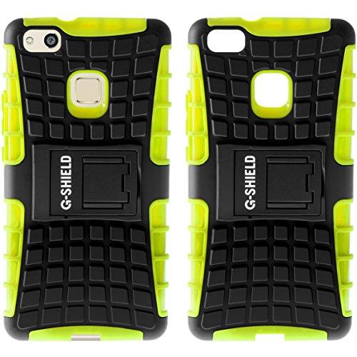 Funda Huawei P10 Lite, G-Shield Carcasa Extremo Protección [Con Soporte] [Anti-Arañazos] [Anti-Choque] [Muy Resistente] Híbrida a Prueba de Golpes Case Cover Para Huawei P10 Lite - Azul Verde