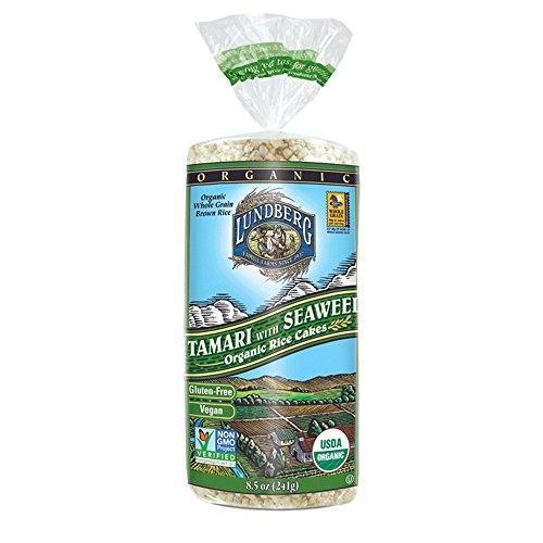 (Lundberg Family Farms Organic Tamari With Seaweed Rice Cake, 8.5-Ounce Units (Pack of)