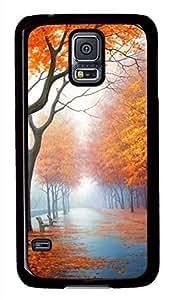 Beautiful Autumn Black Hard Case Cover Skin For Samsung Galaxy S5 I9600