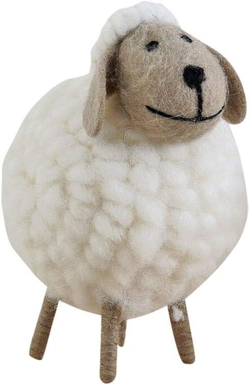 Little Sheep Mini Pendant Wool Felt White Doll Nodic Style Xmas Desktop Ornament
