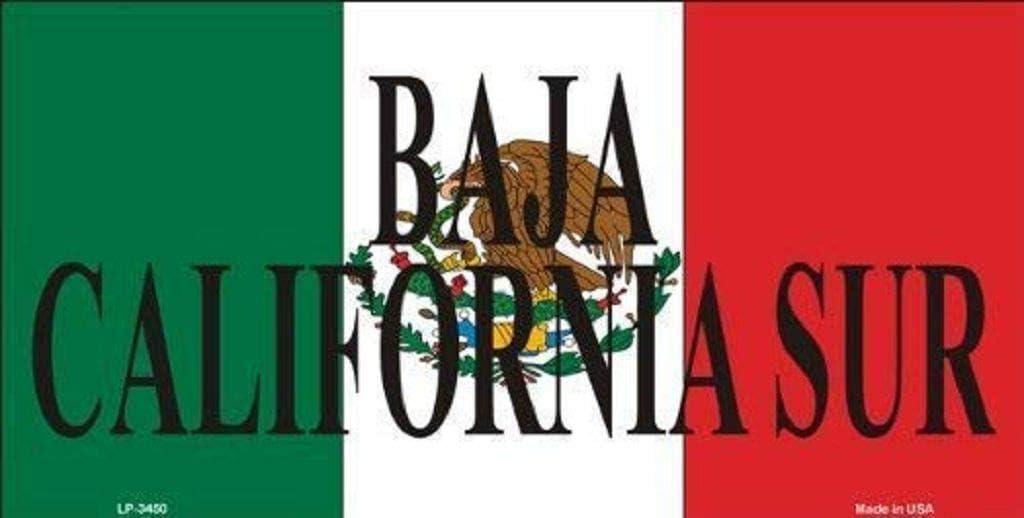 Targa in Alluminio 15,2 x 30,5 cm Motivo: Baja California Sur Messico Dom576son Targa Targa in Alluminio