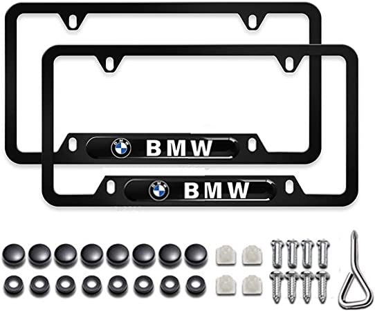 2 PC Car Logo License Plate Frame