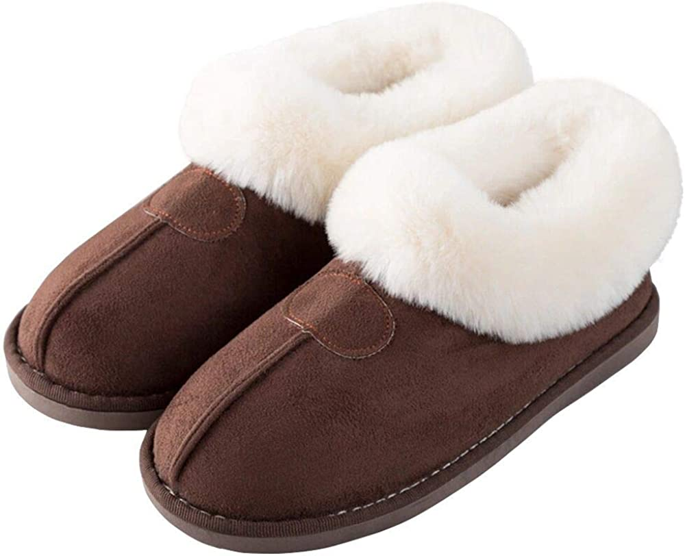 SOSUSHOE Womens Memory Foam Slippers Cotton Fuzzy Winter Warm Lining House Shoes for Women Indoor Outdoor Slip On Slippers