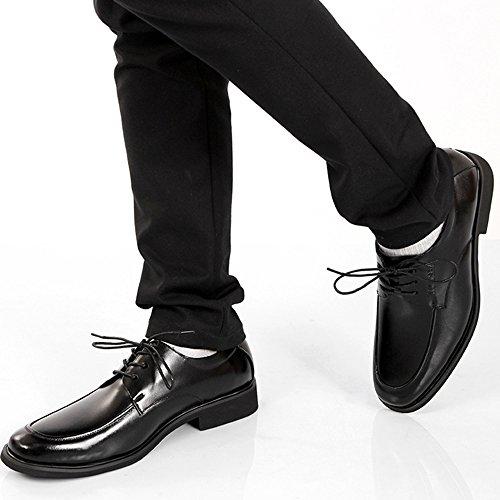da Lavoro da Scarpe Stringate da Business Classiche Derby Scarpe Lavoro Uomo in Scarpe Pelle da da Uomo Casual Casual Uomo Black Uniform HwqRa