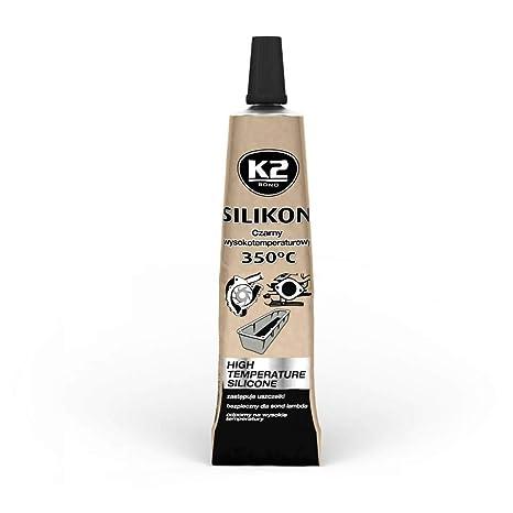 K2 Silikon Silikon Hochtemperatur Dichtmasse Autopflege & Aufbereitung 350° Schwarz 21g Heimwerker