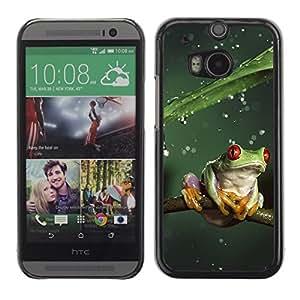 YOYO Slim PC / Aluminium Case Cover Armor Shell Portection //Cool Jungle Frog & Rain //HTC One M8