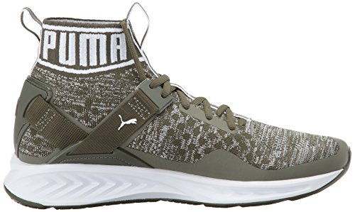 Sneaker Ignite Evoknit da uomo, Olive Night-Quarry-Puma White, 10 M US