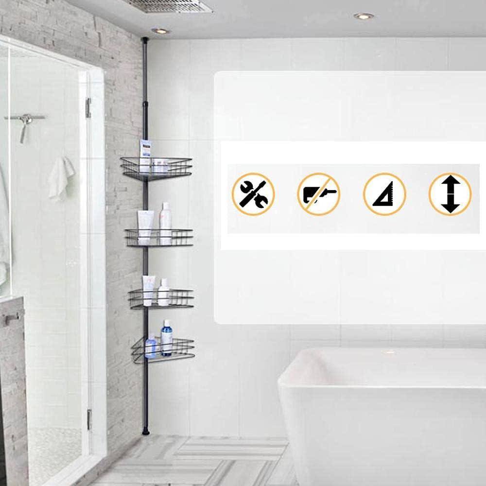 Details about  /Bathroom Corner Shelf Adhesive Storage Rack Holder Shampoo Shower Basket DE