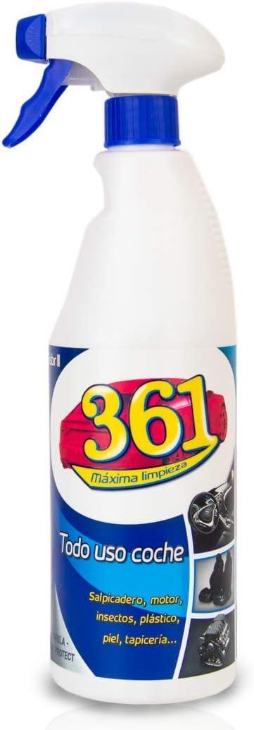 Sisbrill 361 Todo Uso Coche - Limpiador Interior y Exterior del Vehículo - Tapicería, Salpicadero, Cuero, Mosquitos - 750 ml (Pack 1)