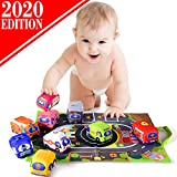 Soft Car Toy Set with Play Mat for 1 Year Old
