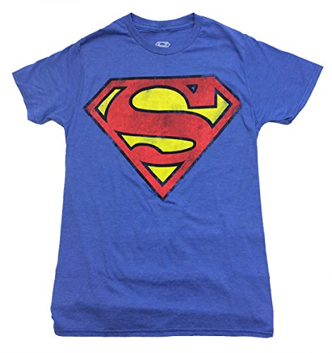 BioWorld Superman Classic Logo Shield Slim-Fit T-Shirt-Royal Heather-large