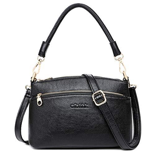 Gray Baachang Da In Donna Pelle Vintage Borsa Vera Black A color Tracolla  qqwxvrOB a4d4bc82839