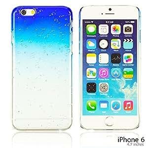 OnlineBestDigital - Transparent Gradient Water Drop Design Hard Back Case for Apple iPhone 6 (4.7 inch)Smartphone - Blue by icecream design