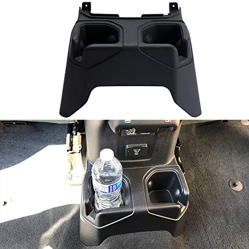 SUNPIE Jeep JL Rear Cup Holders Floor Console Mounted Drink Holders for Wrangler JL Unlimited Rubicon & Sahara 2018 2019