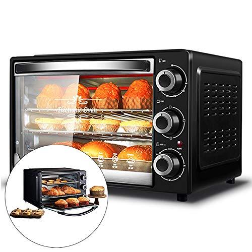 Automatische mini-oven met kookplaat en grill, 32L elektrische oven multifunctionele bakmachine, 1500W drielaagse cake…