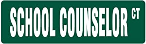 New Plastic Road Sign Great School Counselor Street Sign Counseling Psychology for Outdoor & Indoor 3x9 Inch