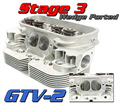 Empi 98-1437-B GTV-2 Wedge-Port Vw Bug Racing Head 44 X 37.5 Valves 94 Bore (Rev Stainless Valve Steel)