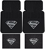 Superman DC Comics Silver Flake - Front & Rear Rubber Car Floor Mat Set