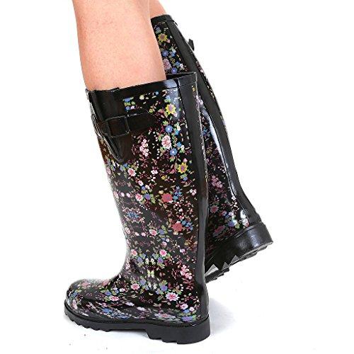 Twisted Frauen Drizzy Tall Cute Gummiregen Stiefel Multi