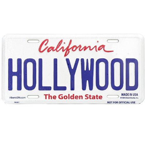 Hollywood California Vanity License Plate Souvenir