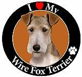 E & S Pets Car Magnet, Wire Fox Terrier