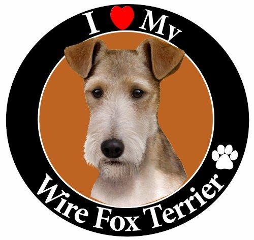 E & S Pets Car Magnet, Wire Fox Terrier (Fox Terrier Magnet)