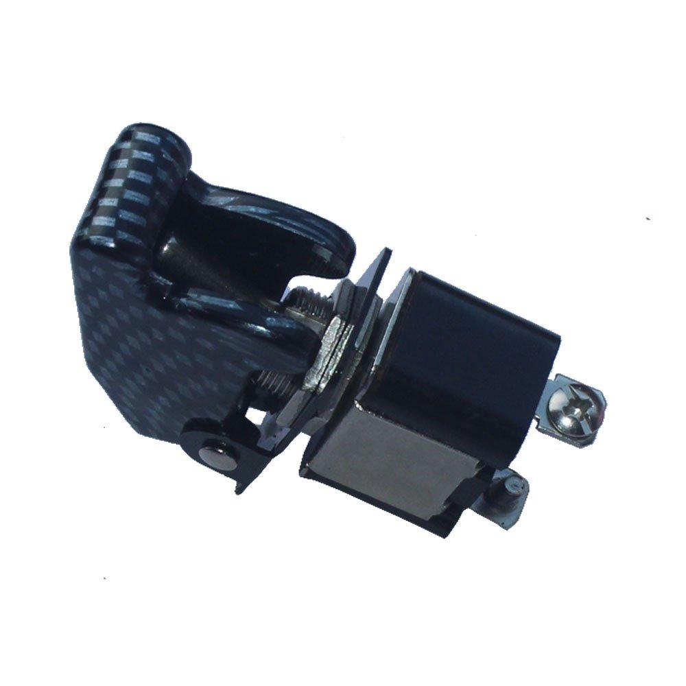E Support/™ 10 X 12V 20A la copertura in fibra di carbonio interruttore a levetta SPST ON OFF camion auto 2Pin barca