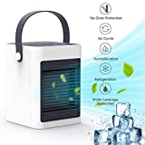 DOUHE Air Cooler,Portable Mini Air Conditioner Evaporative Air Humidifier Personal Space Cooler USB Desk Fan for Home Kitchen Office Bedroom Nightstand