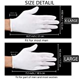 120 Pieces Gloves Large Size for Men Women Dry Hand