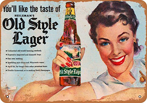- Wall-Color 7 x 10 METAL SIGN - Heileman's Old Style Lager - Vintage Look Reproduction 2