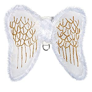 Zack & Zoey Fur-Trimmed Angel Wings Harness for Dogs, Medium