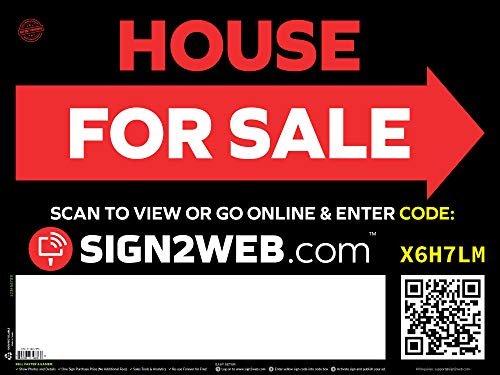 Web Enabled Arrow House for Sale Sign + Website - Large 24
