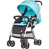 Baby Stroller, Lightweight Baby Can Sit On The Reclining Aluminum Frame with 5-Point Safety Harness Multi-Position Reclining Seat Large Storage Basket Suspension Wheels