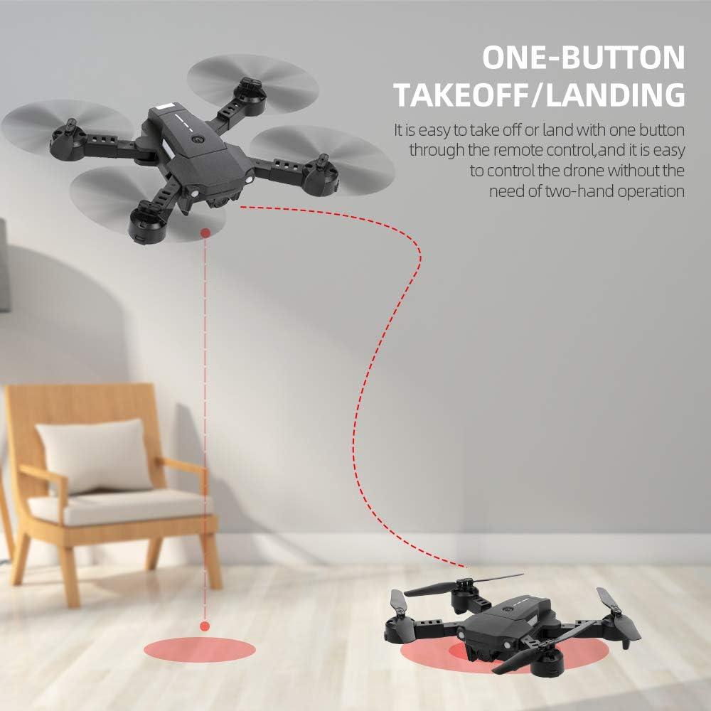 Goolsky- ATTOP X-Pack 10 RC Drone 2.4G 4CH 6-Axis Gyro 3D-Flip RC Quadcopter Mini RC Drone con Modo sin Cabeza Luz LED de Retorno de una Tecla con 2 Baterías: Amazon.es: Juguetes