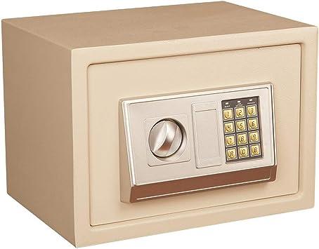 Oficina y papelería Caja fuerte, a prueba de humedad Teclado numérico Seguridad interior Acero Alarma incorporada Montaje en pared Caja de seguridad pequeña dorada35 * 25 * 25cm 9-28: Amazon.es: Bricolaje y herramientas
