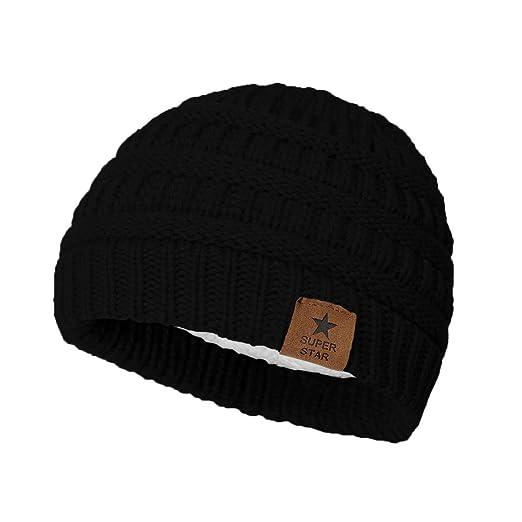 dafc109067c Zando Baby Winter Hats for Boys Girls Fleece Lined Kids Caps Soft Warm Knit  Infant Toddlers