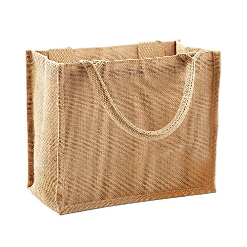 Westford Mill Jute Mini Gift Bag (6 Liters) (One Size) (Natural)