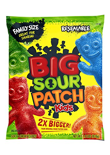 Sour Patch BIG Kids Candy (Original, 1.8-Pound Bulk Bag) ()