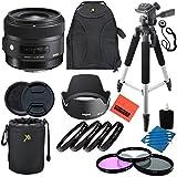 Sigma 30mm f/1.4 DC HSM Art Lens for Canon DSLR Cameras - Professional Kit