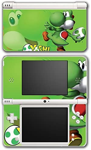 Yoshi New Super Mario Bros World Land Cute Green Egg Video Game Vinyl Decal Skin Sticker Cover for Nintendo DSi XL System