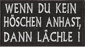 Biker Rocker Heavy Metal Aufn/äher Patch LIES DAS W/ÄREND ICH DIR AUF DIE TITTEN GLOTZ