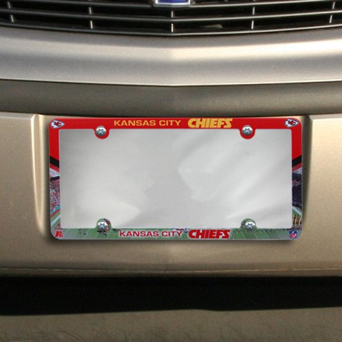 Chiefs Plastic License Plate - Wincraft NFL Kansas City Chiefs Stadium Plastic License Plate Frame